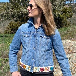 Denim & alpaca jacket- Upcycled, Jean